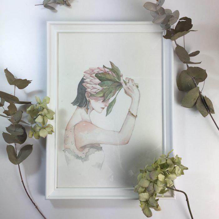 customised portrait frame