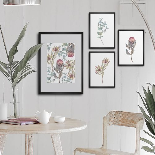 native flowers print art
