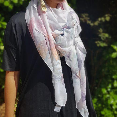 australian bird & flower scarf