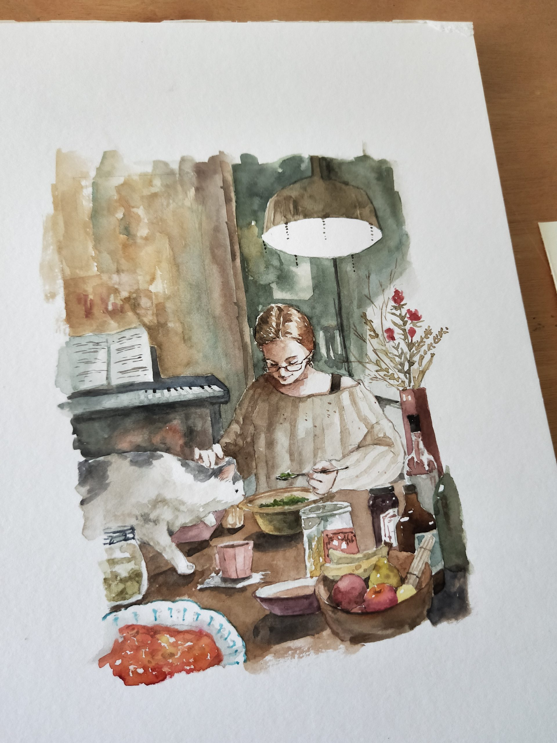 Watercolour painting for sale